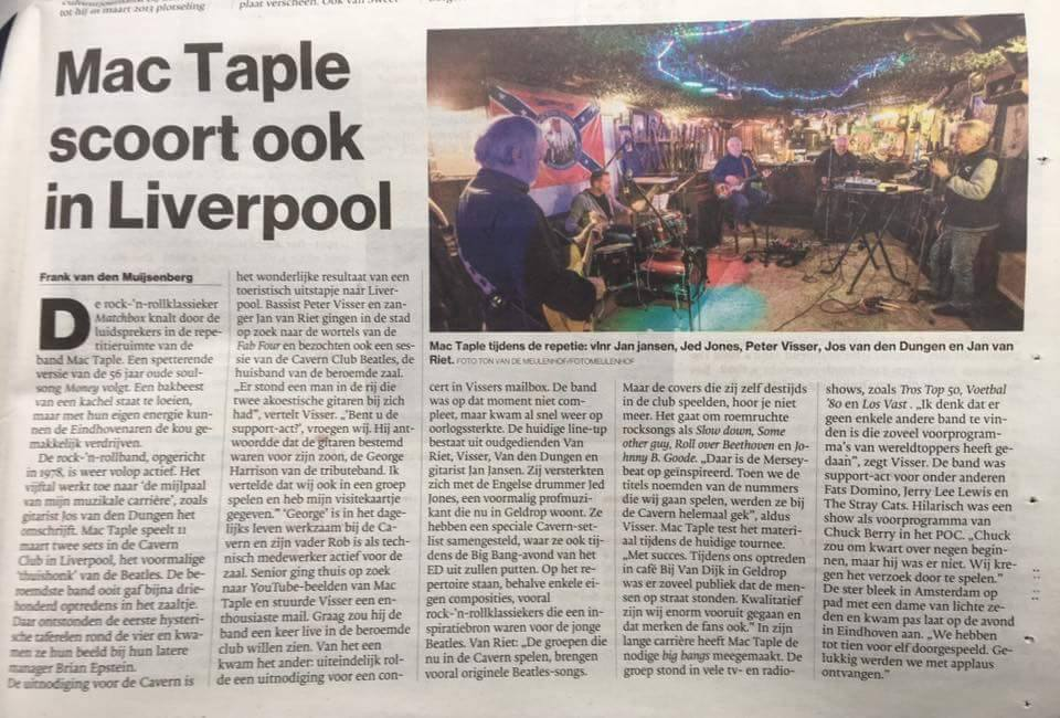 Newspaper Mac Taple in Cavern Club Liverpool